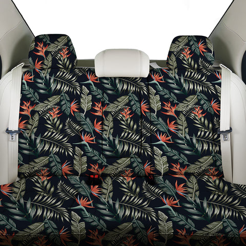 Image of Tropical Strelitzia Black Back Seat Cover - AH - J4 - Alohawaii