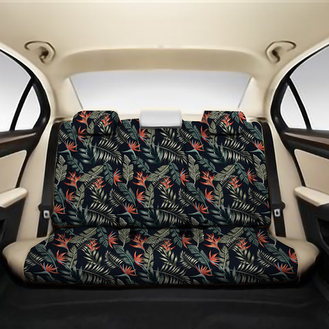 Tropical Strelitzia Black Back Seat Cover - AH - J4 - Alohawaii