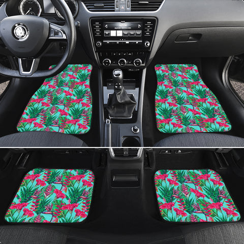 Tropical Strelitzia Blue Hawaii Car Floor Mats - AH - J6 - Alohawaii