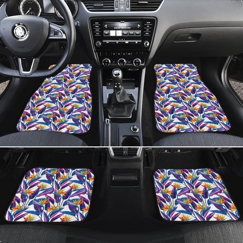 Tropical Strelitzia Hawaii Car Floor Mats - AH - J6 - Alohawaii