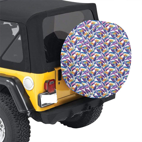 Tropical Strelitzia Hawaii Spare Tire Cover - AH - J4 - Alohawaii