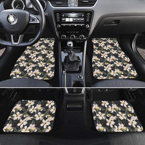 Tropical Toucans Hibiscus Palm Leaves Hawaii Car Floor Mats - AH - J6 - Alohawaii