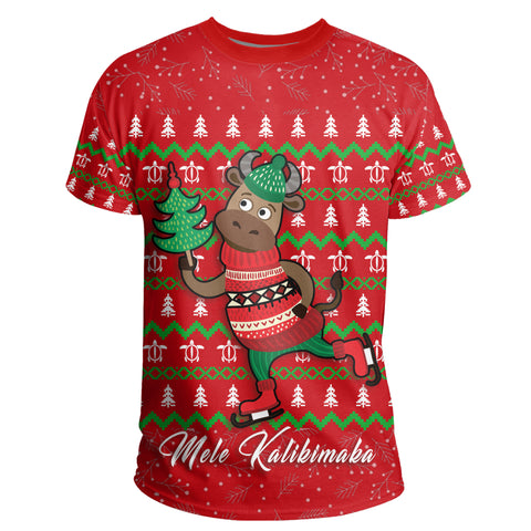 Hawaiian Turtle Christmas T-Shirt - Red - Felix Style