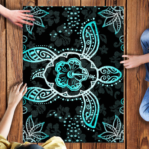 Image of Turtle Hibiscus Blue Puzzle - AH - J1 - Alohawaii