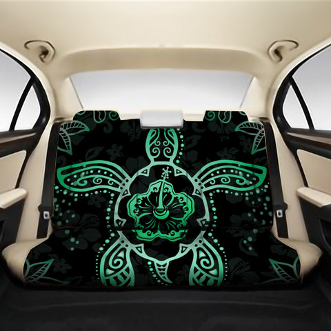 Turtle Hibiscus Green Back Seat Cover AH J1 - Alohawaii