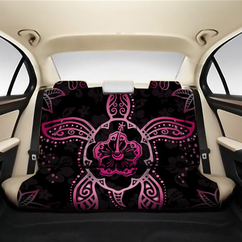 Turtle Hibiscus Pink Back Seat Cover AH J1 - Alohawaii