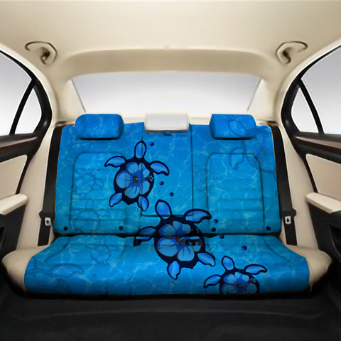 Turtle Hibiscus Swim In Sea Back Seat Cover AH J1 - Alohawaii