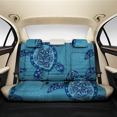 Turtle Plumeria Back Seat Cover AH J1 - Alohawaii