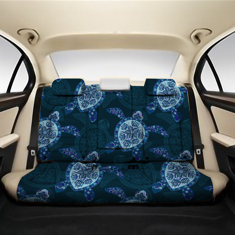 Turtle Plumeria Blue Back Seat Cover AH J1 - Alohawaii