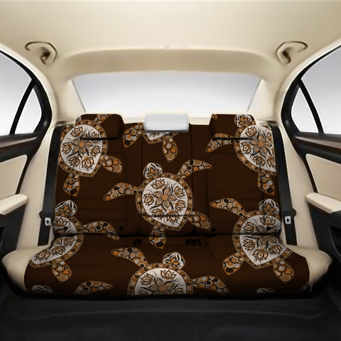 Turtle Plumeria Grown Back Seat Cover AH J1 - Alohawaii