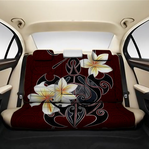 Turtle Poly Trinal Plumeria Red Back Seat Cover AH J1 - Alohawaii