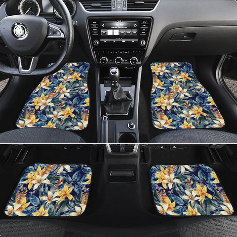 Vintage Floral Hawaii Car Floor Mats - AH - J6 - Alohawaii