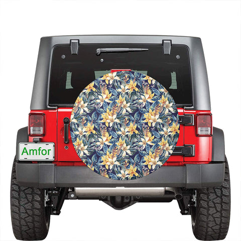 Image of Vintage Floral Hawaii Spare Tire Cover - AH - J4 - Alohawaii