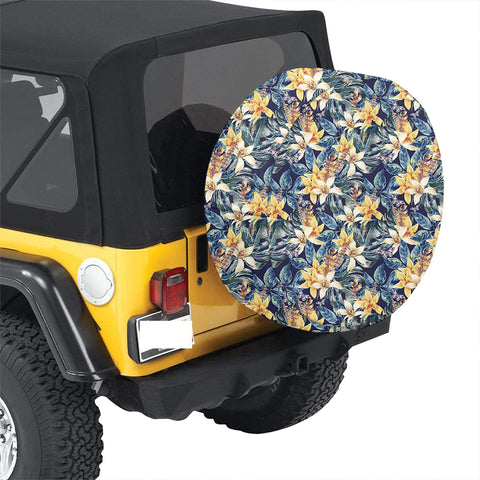 Vintage Floral Hawaii Spare Tire Cover - AH - J4 - Alohawaii