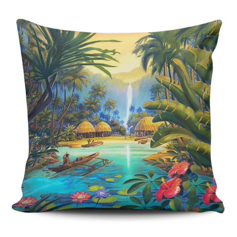 Image of Vintage Village Pillow Covers - AH - J1 - Alohawaii