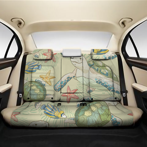 World Animal In Sea Back Seat Cover AH J1 - Alohawaii