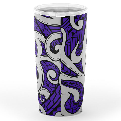 Image of Hawaii Polynesian Maori Ethnic Ornament Violet Tumbler - AH - J6 - Alohawaii