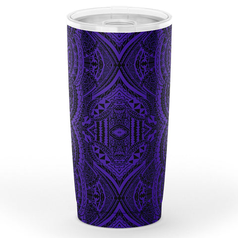 Image of Hawaii Polynesian Symmetry Violet Tumbler
