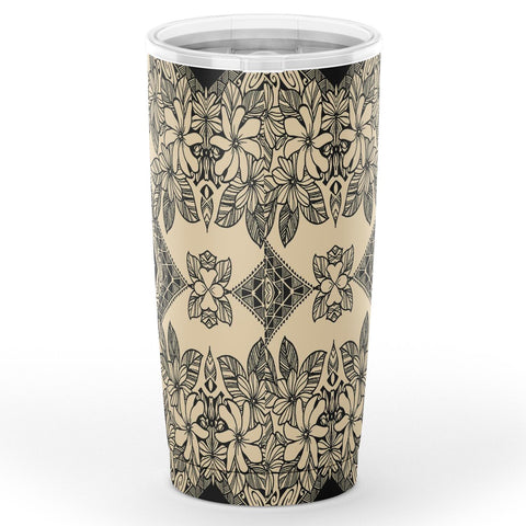 Hawaii Polynesian Plumeria Mix Gray Tumbler - AH - J6 - Alohawaii