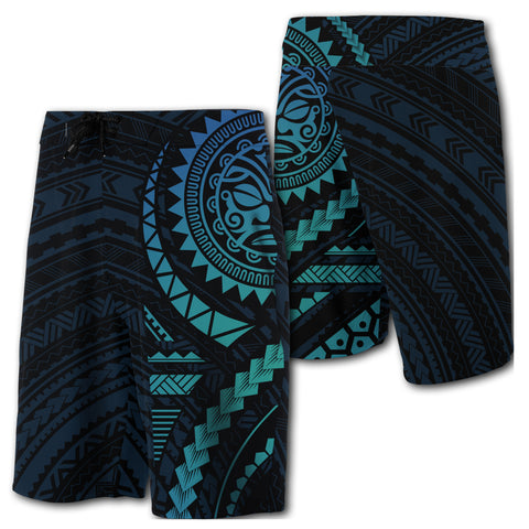 Hawaii Polynesian - Board Shorts - Blue - Haka Style - AH - J2 - Alohawaii