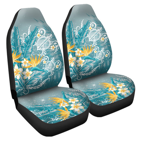 Hawaii Polynesian Turtles Plumeria Tropical Car Seat Covers - Winter Style - AH - JA