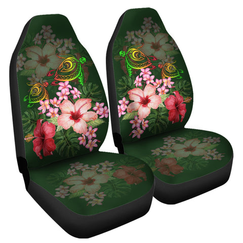 Hawaii Turtle Tropical Flower Car Seat Covers - Deni Style - AH - J2