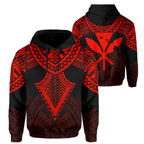 Hawaii Polynesian Limited Hoodie - Tab Style Red - AH - J4