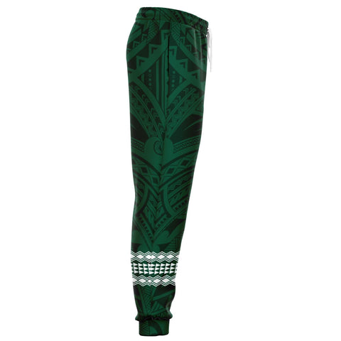 Image of Hawaii Warrior Helmet Football Green Kakau Joggers - AH - J1