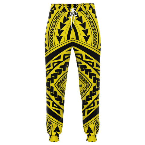 Image of Polynesian Tradition Yellow Joggers