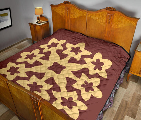 Image of Hawaii Premium Quilt Royal Pattern