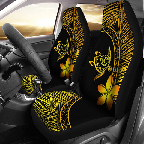 Image of Alohawaii Car Seat Covers - Hawaii Turtle Plumeria Yellow - AH J0 - Alohawaii