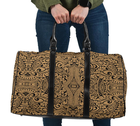 Polynesian Culture Gold Hawaii Travel Bag
