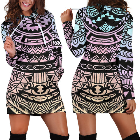 Polynesian Tribal Hoodie Dress