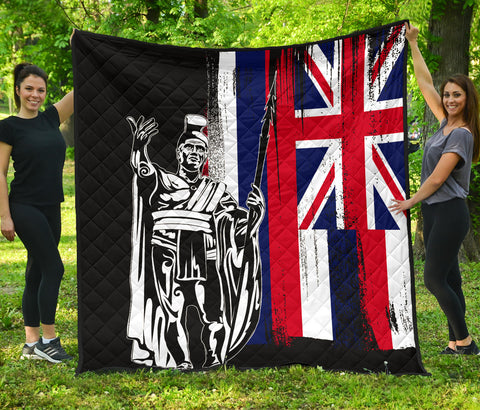 Image of Hawaii King Flag Premium Quilt