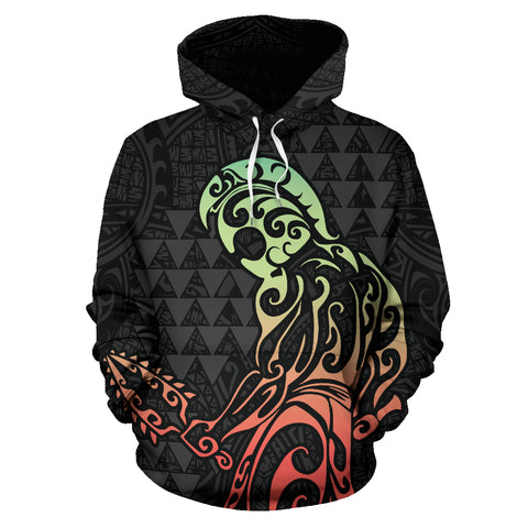 Hawaii Hook Map Kanaka Warrior Hoodie - AH - J1 - Alohawaii