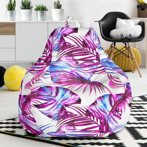 Sensational Hawaii Palm Pattern White Bean Bag Chair Ah Alohawaii Caraccident5 Cool Chair Designs And Ideas Caraccident5Info