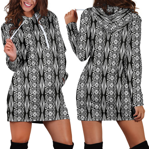 Polynesian Tribal Hoodie Dress 03 - AH - J7 - Alohawaii