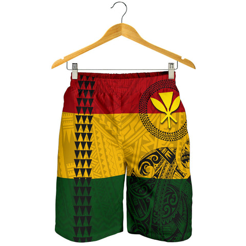 Image of Hawaii Kanaka Flag Polynesian Men's Shorts