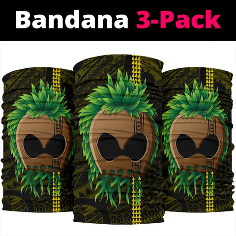 Warrior Kakau Polynesian Bandana 3-Pack - Yellow -  AH - J4 - Alohawaii