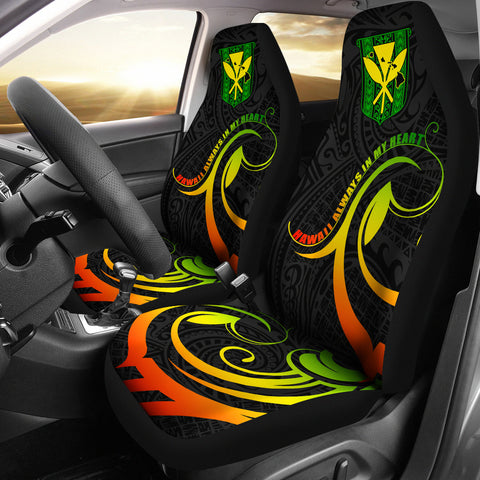 Hawaiian Kanaka Car Seat Covers Hawaii Always In My Heart AH J1 - Alohawaii