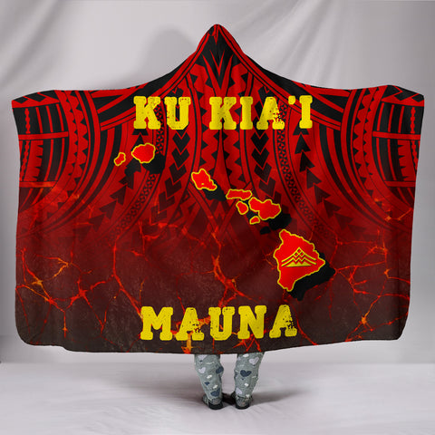 Hawaii Hooded Blanket - Protect Mauna Kea Map - AH - J6