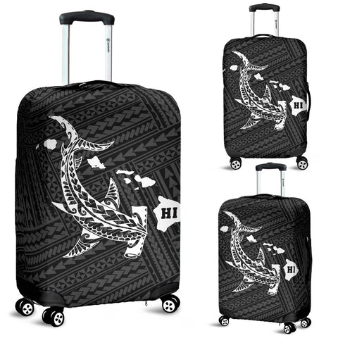 Hawaii Shark White Polynesian Luggage Covers