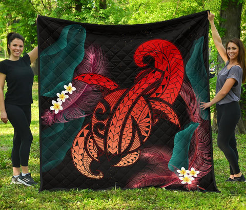 Image of Hawaii Turtle Polynesian Tropical Premium Quilt