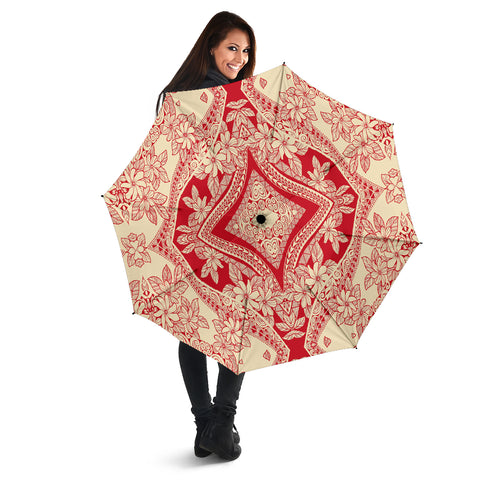 Polynesian Umbrella Red And Yellow - AH - J1 - Alohawaii