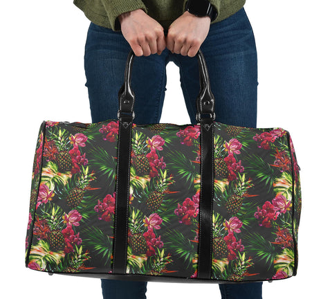 Hawaii Palm Leaves Pineapples Jungle Leaf Hawaii Travel Bag
