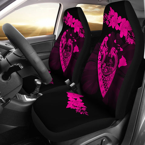 Image of Hawaii Hibiscus Banzai Surfing Car Seat Cover Pink - AH - J5 - Alohawaii