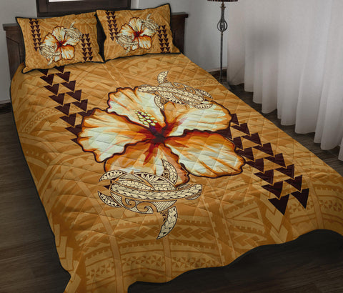 Image of Alohawaii Quilt Bed Set - Hawaiian Vintage Hibiscus - AH J0 - Alohawaii