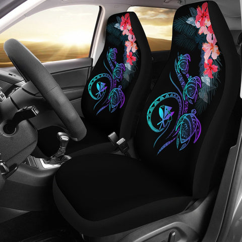 Hawaii Turtle Polynesian Tropical Car Seat Cover - Cora Style Purple