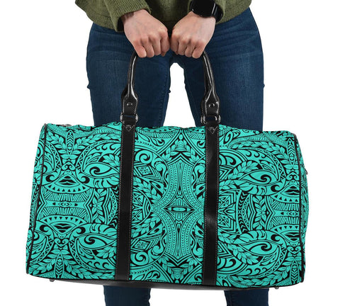 Polynesian Culture Turquoise Hawaii Travel Bag