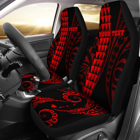 Personalized Hawaii Car Seat Covers Kakau Large Polynesian Red